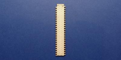 LCC 72-01 O gauge 3 brick wide station wall extension